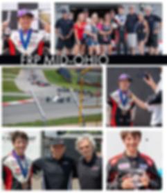 Bryce Aron Podium Celebration Mid-Ohio\