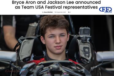 FF1600 Website Bryce Aron Team USA Winner