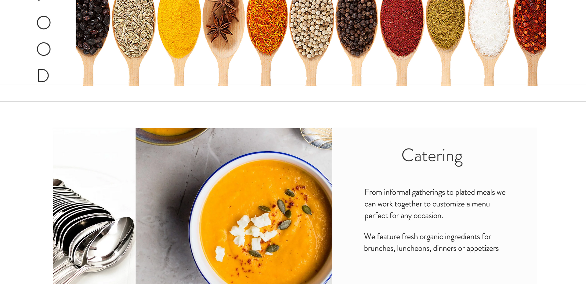 Catering Page