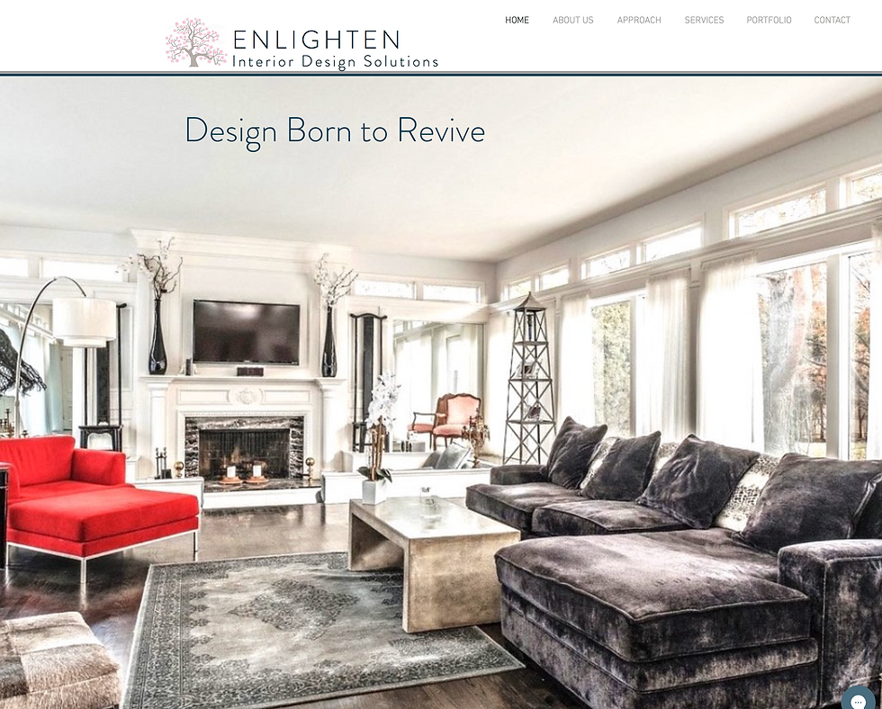 Website I created for an interior designer