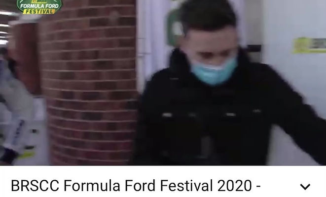 Bryce Aron Formula Ford Festival Semi-Final Podium Interview