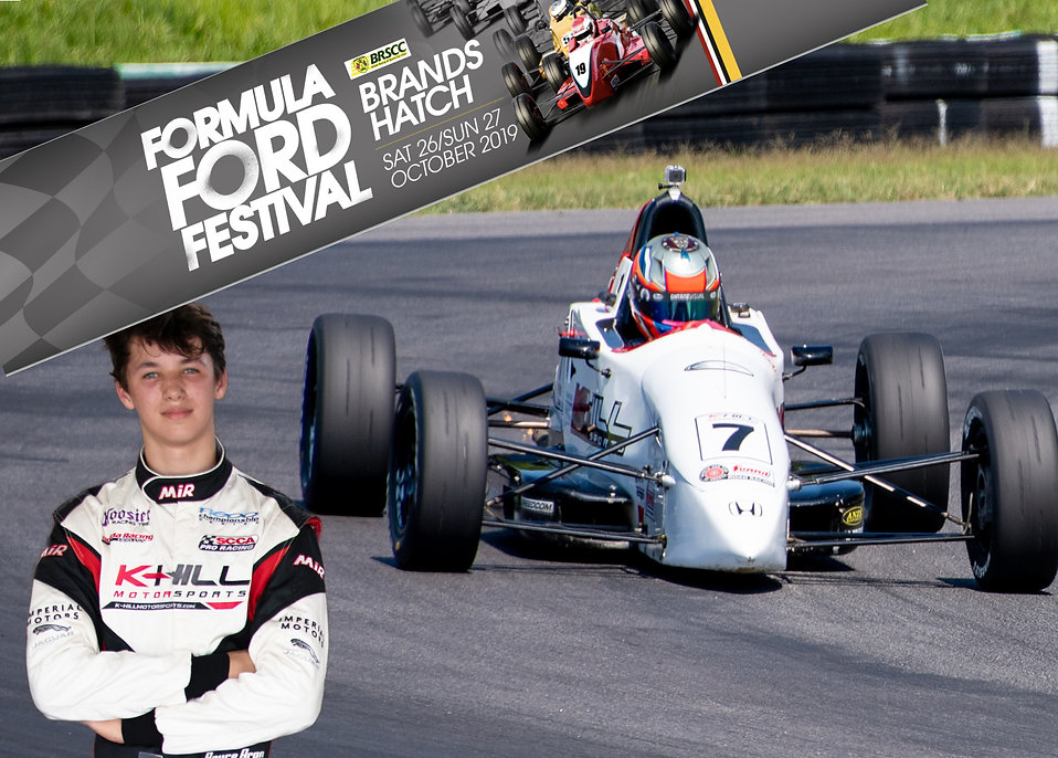Bryce Aron will be racing in the 2019 Formula Ford Festival