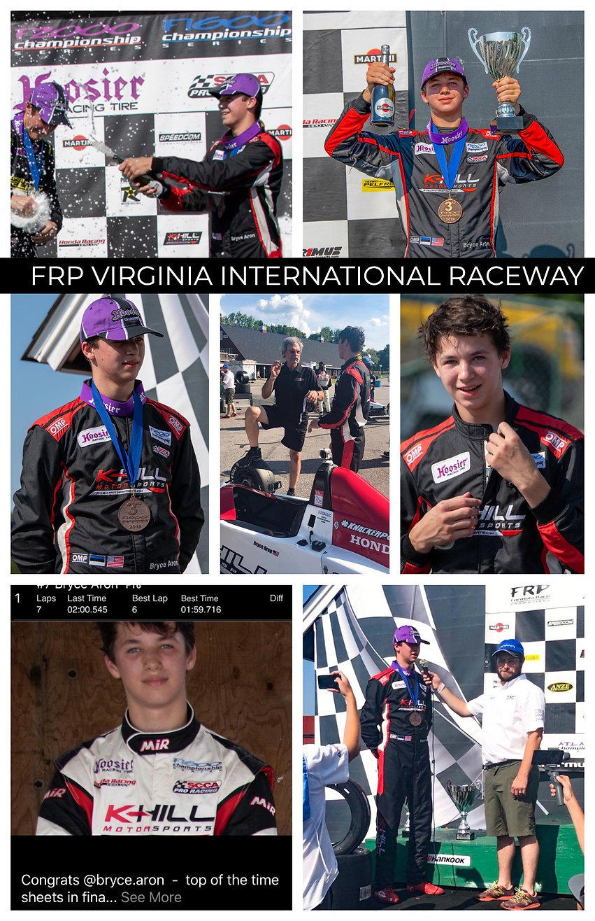 Bryce Aron Podium Celebration FRP at VIR