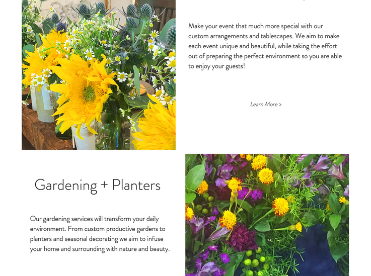 Floral Services Page