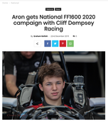 Bryce Aron to Join Cliff Demspsey