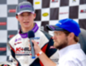 Bryce Aron post race interview NJMP
