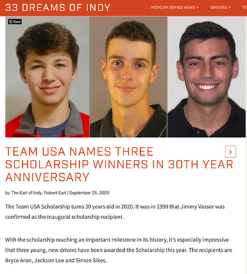33 Dreams of Indy Team USA Winner Anouncement