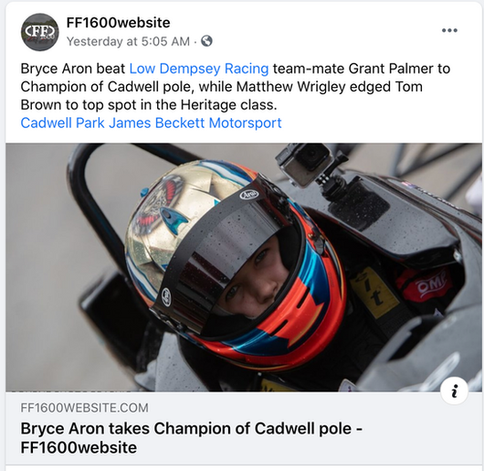 Bryce Aron Takes Pole at Cadwell Park