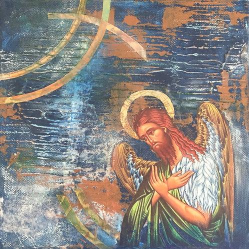 St. John the Baptist - Original Canvas 8x8