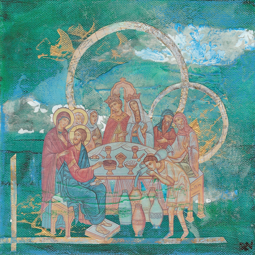 The Wedding at Cana - Original Canvas 8x8