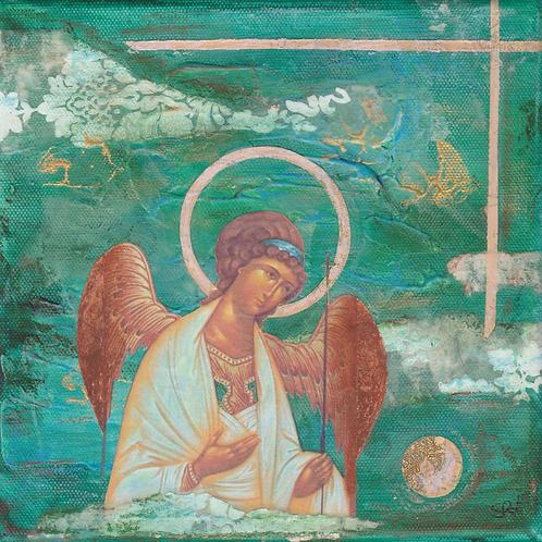 Guardian Angel- Original Canvas 8x8