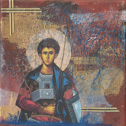 St. Demetrios - Original Canvas 6x6