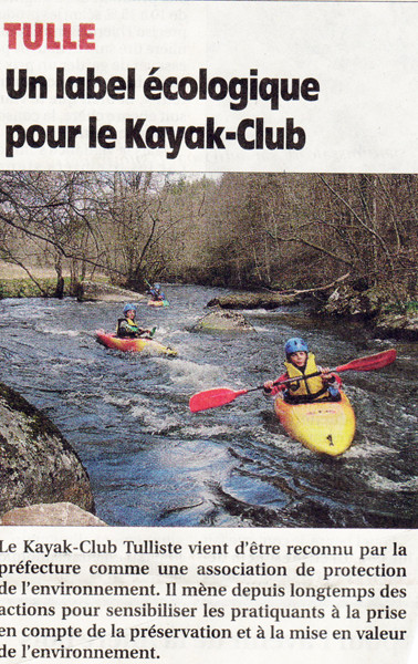 Un label écologique pour le Kayak-Club