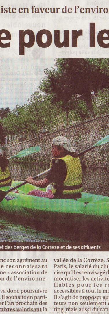 2006 - label ecologique pour le Kayak Club Tulliste