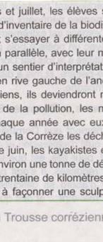 2017- à la découverte de la rivière Corrèze