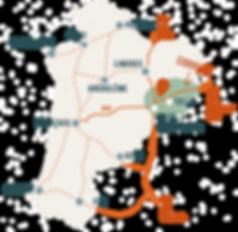 carte nouvelle aquitainePlan de travail