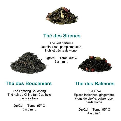 Lot de 3 thés