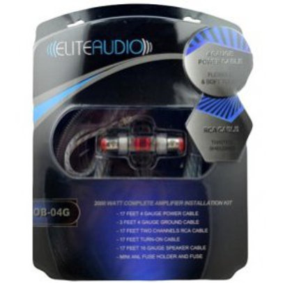 ELITE AUDIO OB04G 4GA AMP Wiring Kit