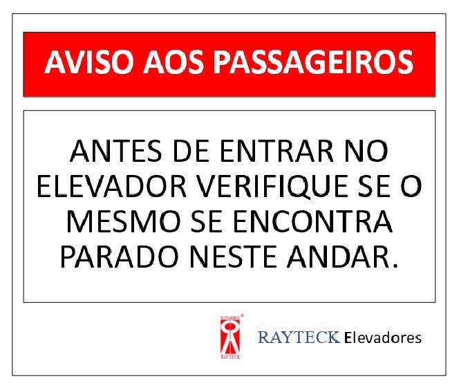 Aviso aos passageiros