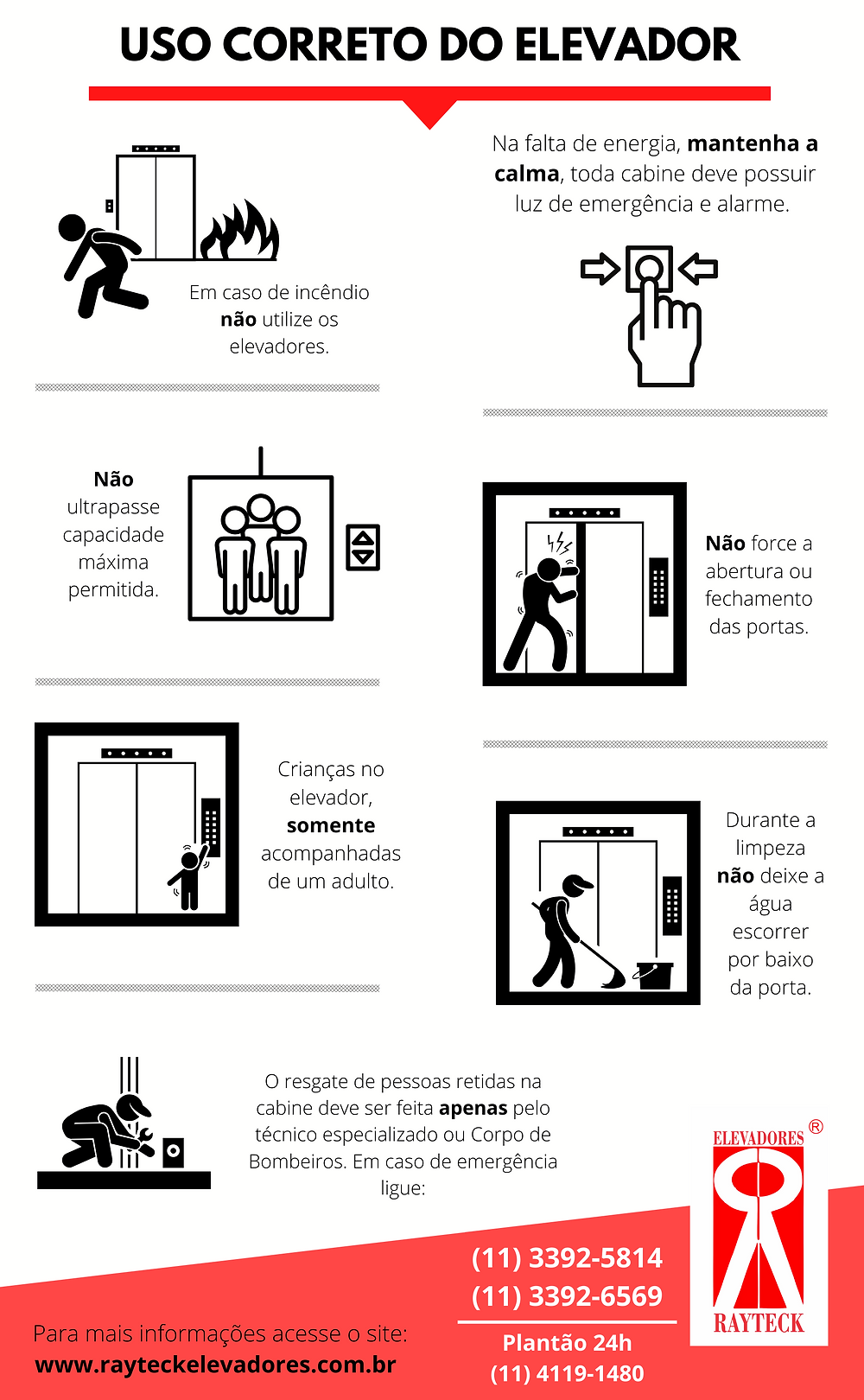 uso correto do elevador - Rayteck Elevadores