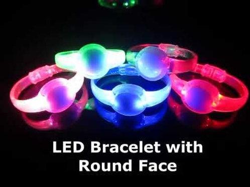 GlowUP LED Round Face Flasher Bracelets