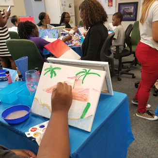 Teen Paint and Sip Day