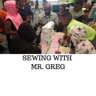 Sewing wMr. Greg