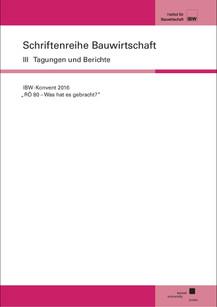"""IBW-Konvent 2016 - """"RÖ 80 - Was hat es gebracht?"""""""