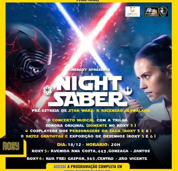 Star Wars Night Saber em Santos e São Vicente