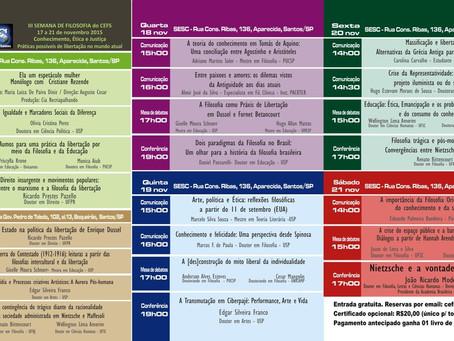 III Semana de Filosofia do CEFS