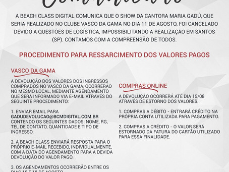 Cancelamento Show Maria Gadú