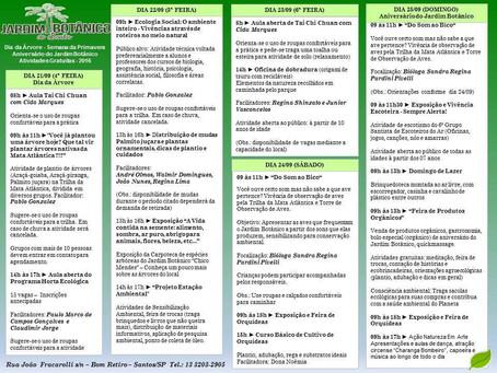 Semana Especial do Jardim Botânico de Santos