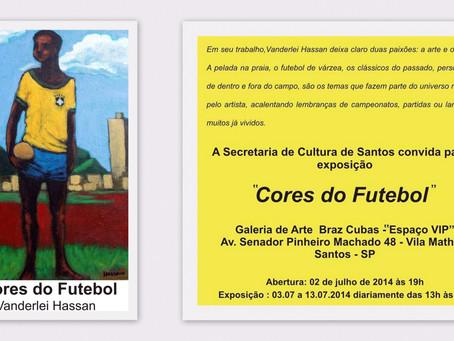 """Exposição """"Cores do Futebol"""" na Galeria Braz Cubas"""