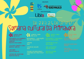 Arte no Dique promove Semana Cultural da Primavera com diversas atividades gratuitas de 23 a 26 de s
