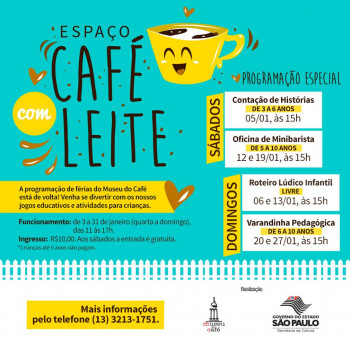 Férias no Museu do Café