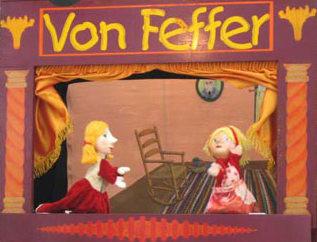 Cia. de Fantoches Von Feffer se apresenta  na Concha Acústica