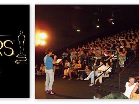 Palestra e Oscar ao vivo no Cine Roxy