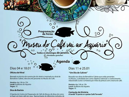 Museu do Café vai promover atividades no Aquário