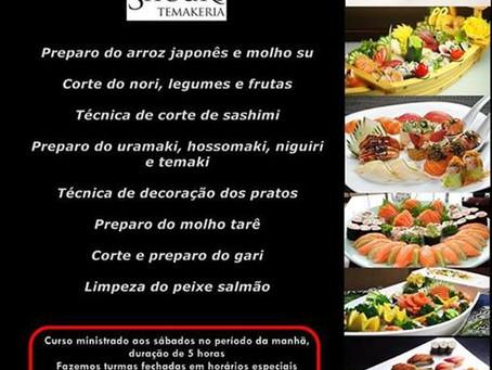 Curso de Temaki, Sushi e Sashimi