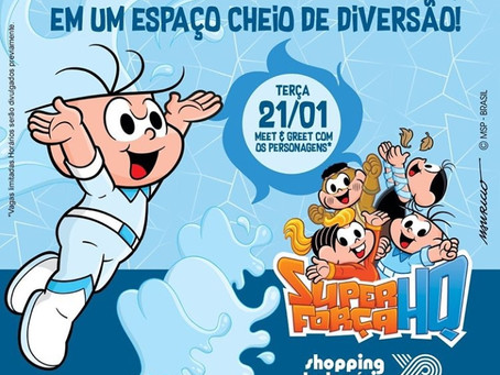 Turma da Mônica no Shopping Parque Balneário