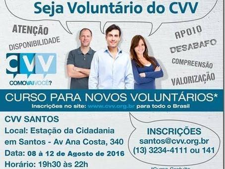 CVV de Santos abre inscrições  para novos voluntários
