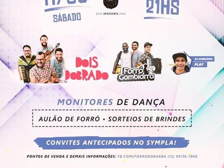 Bandas Dois Dobrado e Forró Gambiarra fazem show em mais uma edição do Forró do Barba