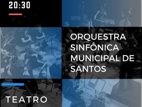 Sinfônica de Santos apresenta concerto de junho no Coliseu; distribuição de ingressos gratuita