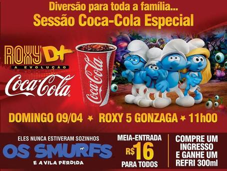 Sessão Coca-Cola exibe Os Smurfs e a Vila Perdida