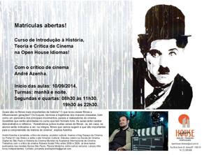 Curso de Introdução à História, Teoria e Crítica de Cinema começa em setembro