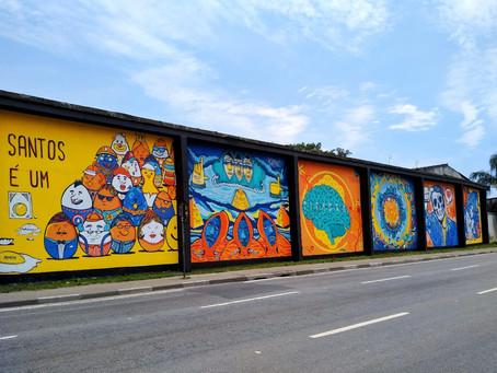 Mural da Perimetral reúne artistas da região