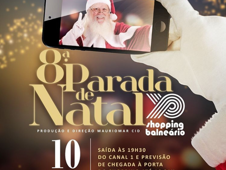 8ª Parada de Natal do Balneário terá personagens, shows e a chegada do Papai Noel