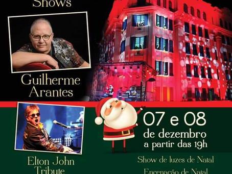 Espetáculo gratuito de Natal em Santos terá Guilherme Arantes e tributo a Elton John