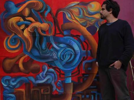 Exposição do artista Pedro Smith na Galeria de Arte Braz Cubas