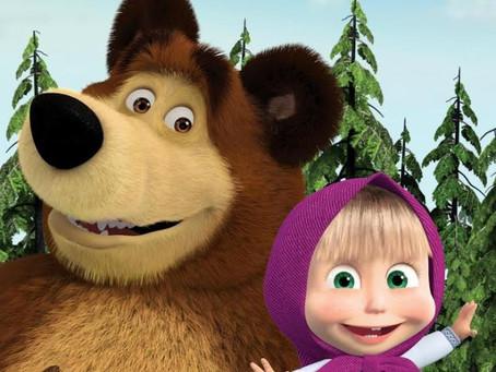 Pré-estreia de Masha e o Urso na Sessão Coca-Cola